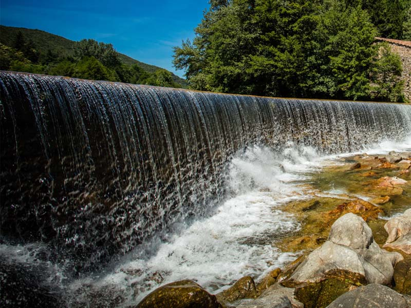 Dam in spring