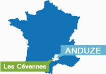 Anduze des Cévennes située en France