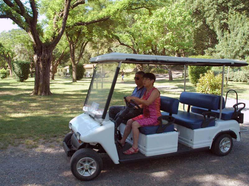 Danielle en golfette