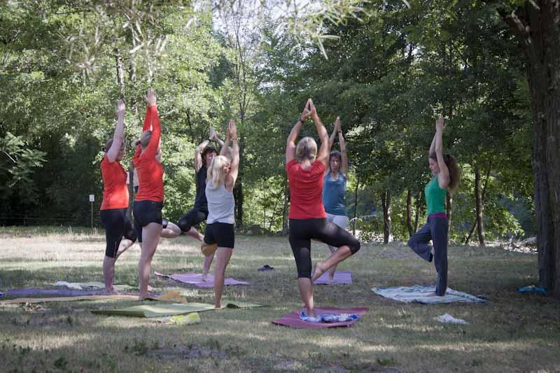Outdoor yoga-activiteit