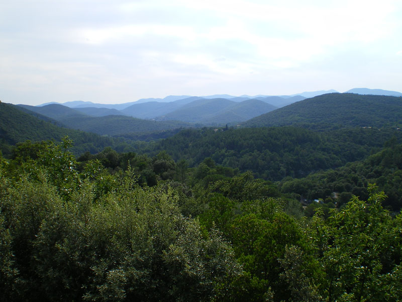 Panorama of the Cévennes hills