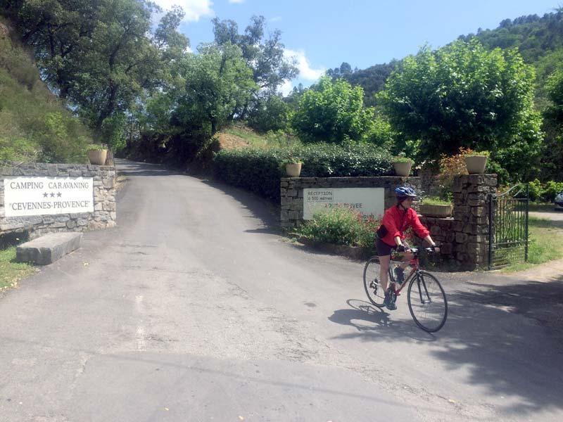 Karine en vélo