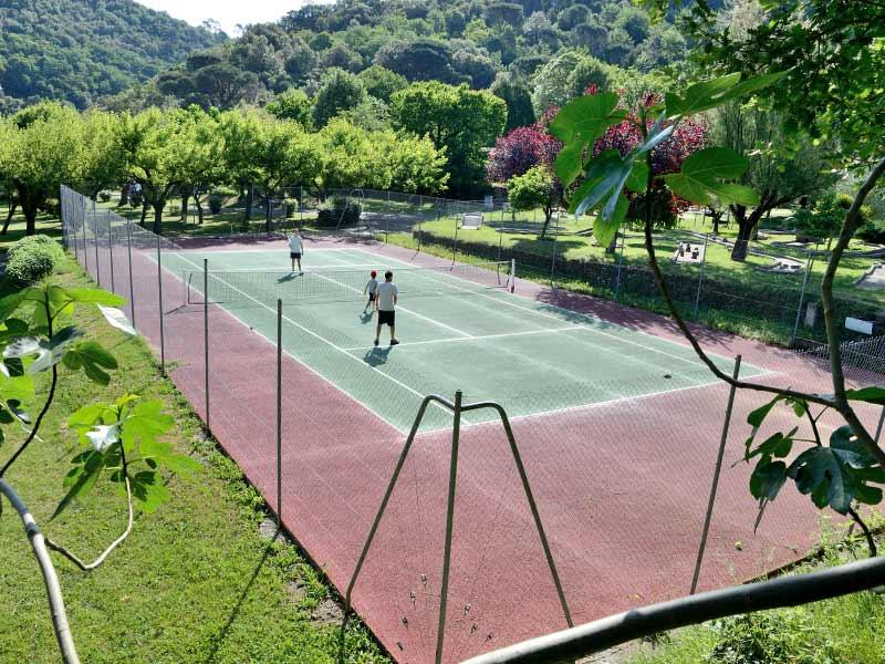 Tennis wedstrijd