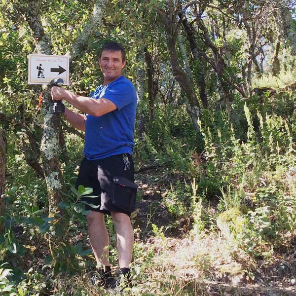 signalisation du sentier du camping
