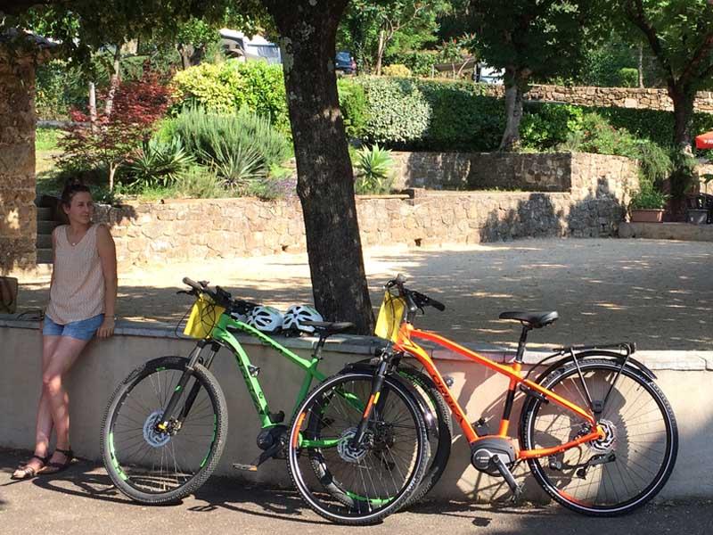 Essai gratuit de vélo électrique au centre du camping