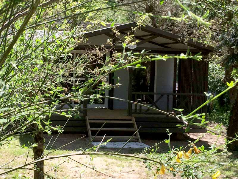 Chalet with garden