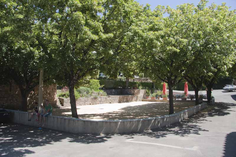 Shaded petanque ground