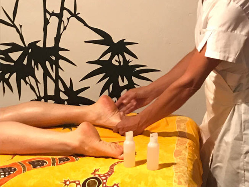 Massage and relaxation on vacation