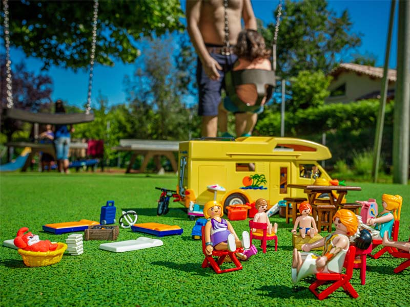 Installation of toys on the playground