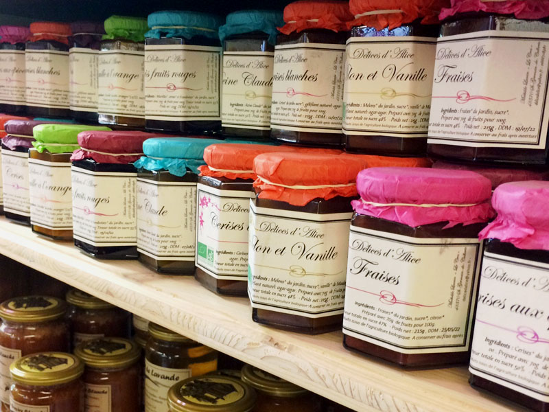 Jams sold in the store